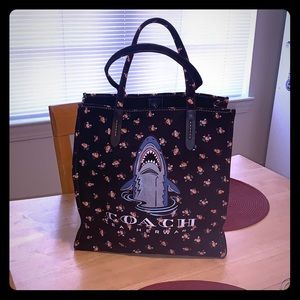 Coach Sharky Canvas Tote